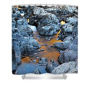 Evening Light On The Black River At Johnsons Shut Ins State Park IIi Shower Curtain by Greg Matchick
