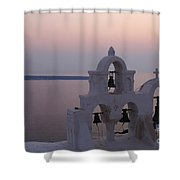 Santorini Greece Evening Light  Shower Curtain