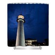 Evening Lighthouse Shower Curtain