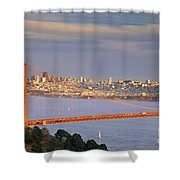 Evening Over San Francisco Shower Curtain