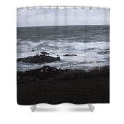 Evening Waves Shower Curtain