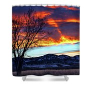 Evening's Solitude Shower Curtain