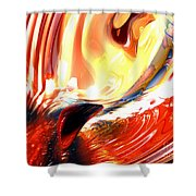 Evil Intent Abstract Shower Curtain