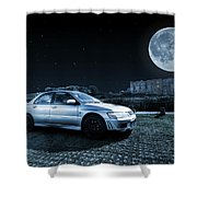 Evo 7 At Night Shower Curtain