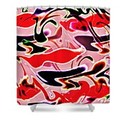Evolve Abstract Painting Shower Curtain