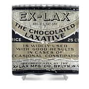 Ex-lax Container Shower Curtain