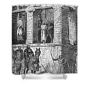 Execution Of Heretics Shower Curtain