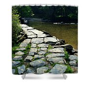 Exmoor National Park Crossing Bridge Shower Curtain