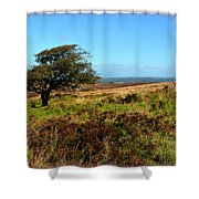 Exmoor's Heather-covered Hills Shower Curtain