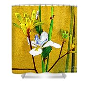 Exotic Flowers Shower Curtain