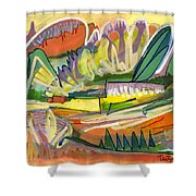 Exotic Places In My Mind Shower Curtain