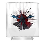 Exploding Tick Shower Curtain