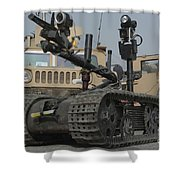 Explosive Ordnance Disposal Robot Used Shower Curtain