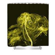 Explosive Yellow Shower Curtain