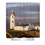 Exterior Of Fanad Lighthouse Fanad Shower Curtain