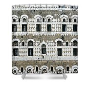 Exterior Of Ornate Mud House, Close Up Shower Curtain