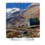 Exterior Of Rustic Home Shower Curtain by Gareth McCormack