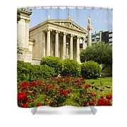 Exterior Of The Athens Academy, Greece Shower Curtain