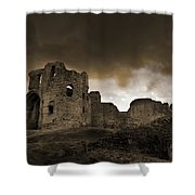 Exterior Of The Ruins Of Denhigh Castle Shower Curtain