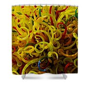 Extraordinary Chihuly Glass  Shower Curtain