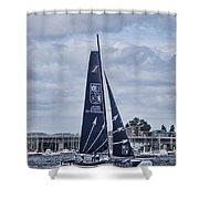Extreme 40 Team Groupe Edmond De Rothschild Shower Curtain