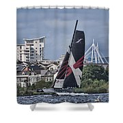 Extreme 40 Team Wales 2 Shower Curtain