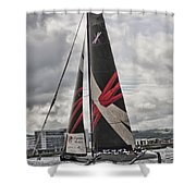 Extreme 40 Team Wales Shower Curtain