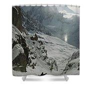 Extreme Skier Jean Franck Charlet Shower Curtain
