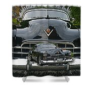 Extruding Background Classic Shower Curtain