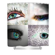 Eye Art Collage Shower Curtain