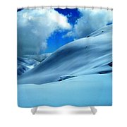 Eye Catcher In The Snow Shower Curtain