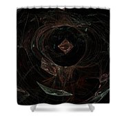 Eye Of Chaos Shower Curtain