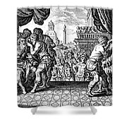Eye Surgery, Historical Engraving Shower Curtain