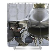 F-16 Fighting Falcon Is Ready To Head Shower Curtain