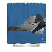 F-22 Lightning 2 Fighter Shower Curtain by Tim Mulina