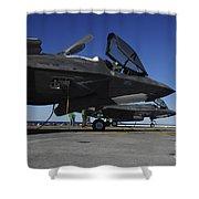 F-35b Lightning II Variants Are Secured Shower Curtain
