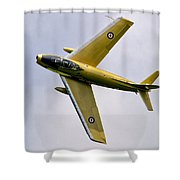 F-86 Sabre Topside Shower Curtain