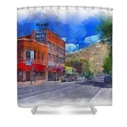 F And S Salida Watercolor Shower Curtain
