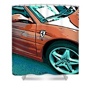 F355 Spider Shower Curtain