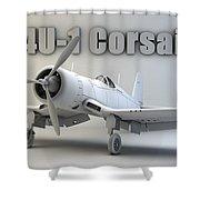 F4u-1 Corsair Shower Curtain
