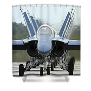 Fa-18a Hornets Assigned To The Blue Shower Curtain