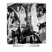 Faber: Mural Painting, C1940 Shower Curtain