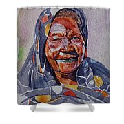 Face 23 Shower Curtain