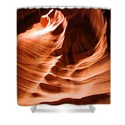Face In The Canyon Shower Curtain