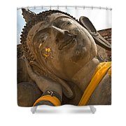 Face Of A Reclining Buddha Shower Curtain