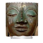 Face Of Bronze Buddha  Shower Curtain
