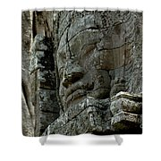 Face Of Stone Shower Curtain