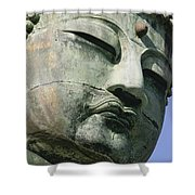 Face Of The Daibutsu Or Great Buddha Shower Curtain