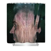 Face Reflected Underwater Shower Curtain