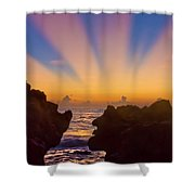 Face The Morning Shower Curtain